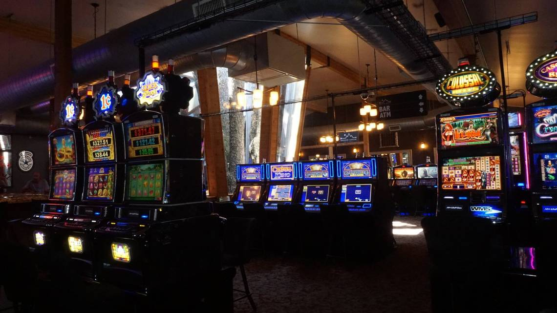 The Grand Falls sportsbook is together with large screens